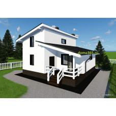 Проект дома площадью 98 м2