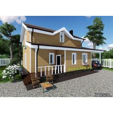 Готовый проект дома 118 м2 АСП-№47