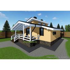 Готовый проект одноэтажного дома 58 м2 АСП-№50