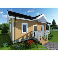 Готовый проект дома 50 м2 АСП-№51
