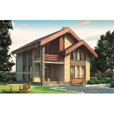 Проект дома с мансардой 127 м2 Дом-№103 10 на 10 метров