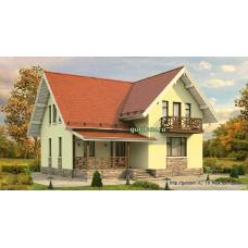 Проект дома с мансардой 121 м2, 10 на 10 метров, Дом-№108