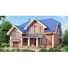 Проект дома с мансардой и гаражом 250 м2 Дом-№110