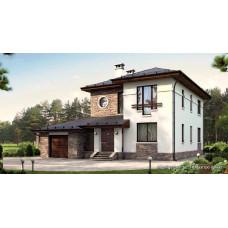 Проект дома с гаражом 200 м2 Дом-№121
