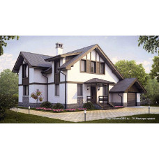 Проект дома с гаражом 165 м2 Дом-№132