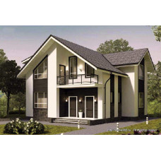 Проект дома 140 м2 Дом-№216 с размерами в плане 10 на 10