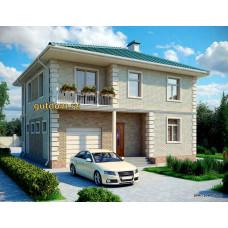 Проект дома с гаражом 150 м2 Дом-№324