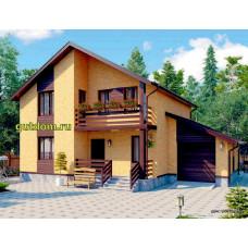 Проект дома с гаражом 150 м2 Дом-№325