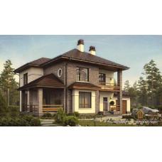 Проект дома с гаражом 200 м2 Дом-№58