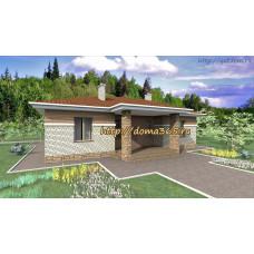 Проект одноэтажного дома площадью 135 кв. м. ГаП-№11