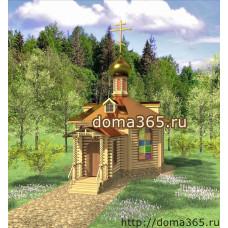 Проект часовни площадью 44,51 м2 ГаП-№2