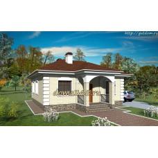 Проект дома площадью 67 м2 ГаП-№4