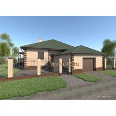 Проект дома с гаражом 150 м2 ГаП-№47