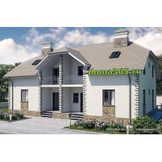 Проект дома на 2 семьи (дуплекс) 272 м2 ГБЮ-№92