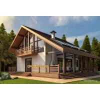 Каркасный дом площадью 250 м2 проект КД-№1