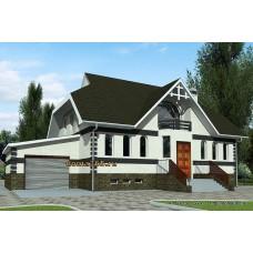 Проект двухэтажного дома с подвалом и гаражом 225 м2 ВиК-№10