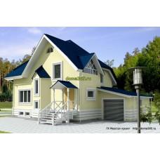 Проект дома с гаражом 165 м2 ВиК-№23