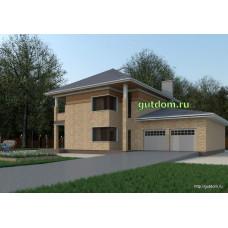 Проект дома 277 м2 с гаражом 50 м2 ВиК-№30