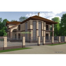 Готовый проект дома 257 м2 ВиК-№5