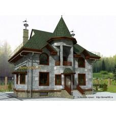 Проект двухэтажного дома с подвалом 197 м2 ВиК-№9
