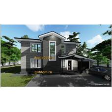 Готовый проект дома с гаражом 192 кв.м АСП-№20-10
