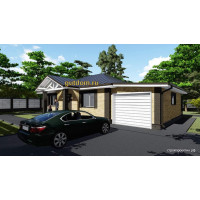 Готовый проект одноэтажного дома с гаражом 109 кв.м АСП-№20-9