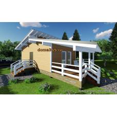 Готовый проект дома 50 м2 АСП-№52