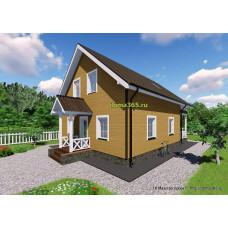 Готовый проект дома 135 м2 АСП-№53