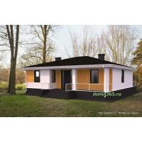 Готовый проект одноэтажного дома 114 м2 АСП-№64