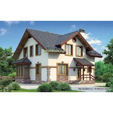 Проект дома с мансардой 142 м2, 10 на 10 метров, Дом-№105