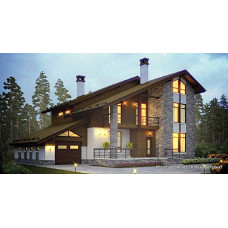 Проект дома с гаражом 200 м2 Дом-№130 из кирпича, из газобетона, из керамблоков