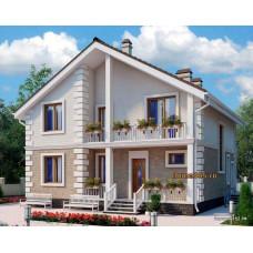 Проект дома 150 м2 Дом-№316 в плане 10 на 10 метров