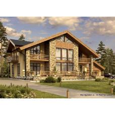 Проект дома с гаражом 347 м2 Дом-№74