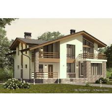 Проект одноэтажного дома с мансардой 150 м2 Дом-№92