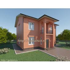 Проект двухэтажного дома площадью 142 кв.м.