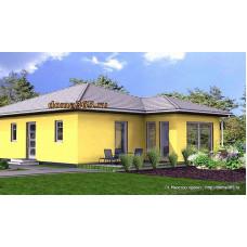 Проект одноэтажного дома 100 м2 ГБЮ-№8