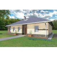 Проект одноэтажного дома 120 м2 с чердаком 60 м2 ВиК-№1