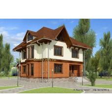 Готовый проект двухэтажного дома (175 м2) с подвалом (86 м2) ВиК-№11