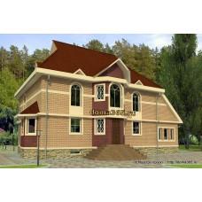Проект двухэтажного дома с подвалом 229 м2 ВиК-№12