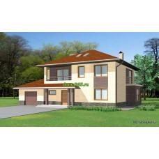 Проект дома с гаражом 200 м2 ВиК-№2