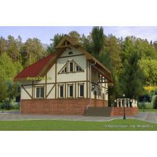 Проект дома 141 м2 ВиК-№25 размером в плане 10х10 метров