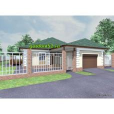 Готовый проект одноэтажного дома с гаражом 181 м2 ВиК-№31