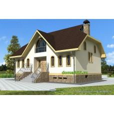 Проект двухэтажного дома с подвалом 194 м2 ВиК-№8