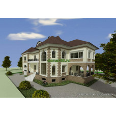 Проект дома 355 м2 Икс-№3