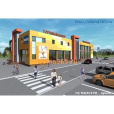 Проект магазина (проект торгового центра) 1740 м2 ГаП-№8